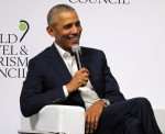 Former US President Barack Obama participates at the World Travel & Tourism Council in Seville