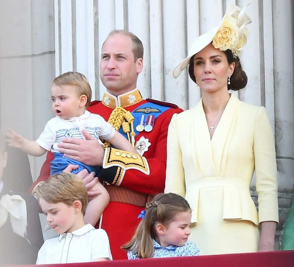 Prince Louis and the Duke of Cambridge on the balcony, 2019 Trooping the Colour