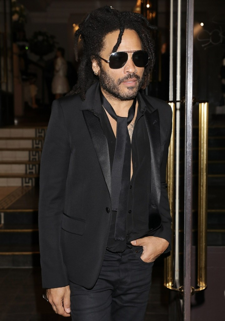 Lenny Kravitz seen leaving Vogue party during Haute Couture Week 2020 in Paris