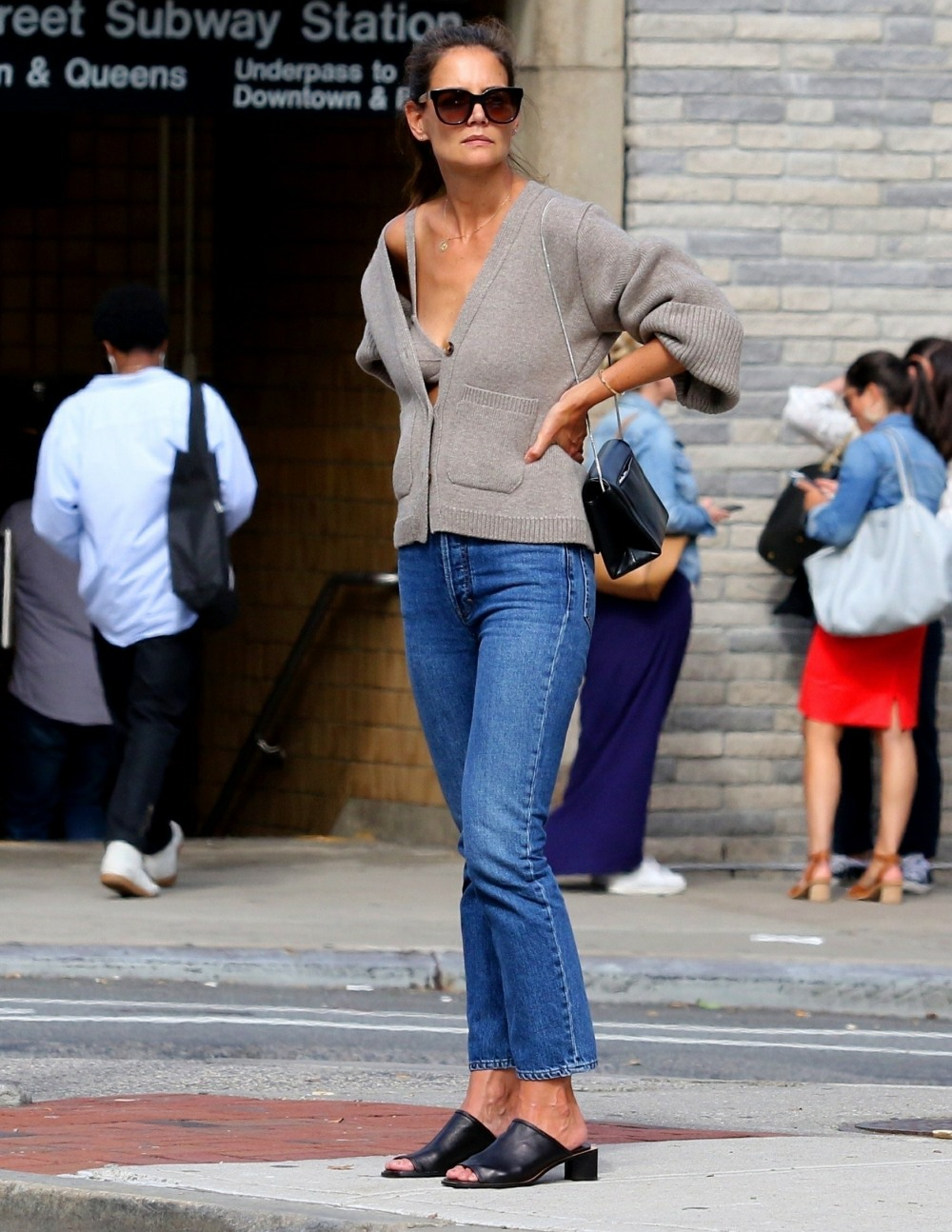Katie Holmes' cashmere bra and matching sweater has become the fall's must have fashion item!