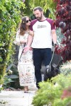 Ben Affleck and Ana De Armas enjoy a nice afternoon walk with their dogs