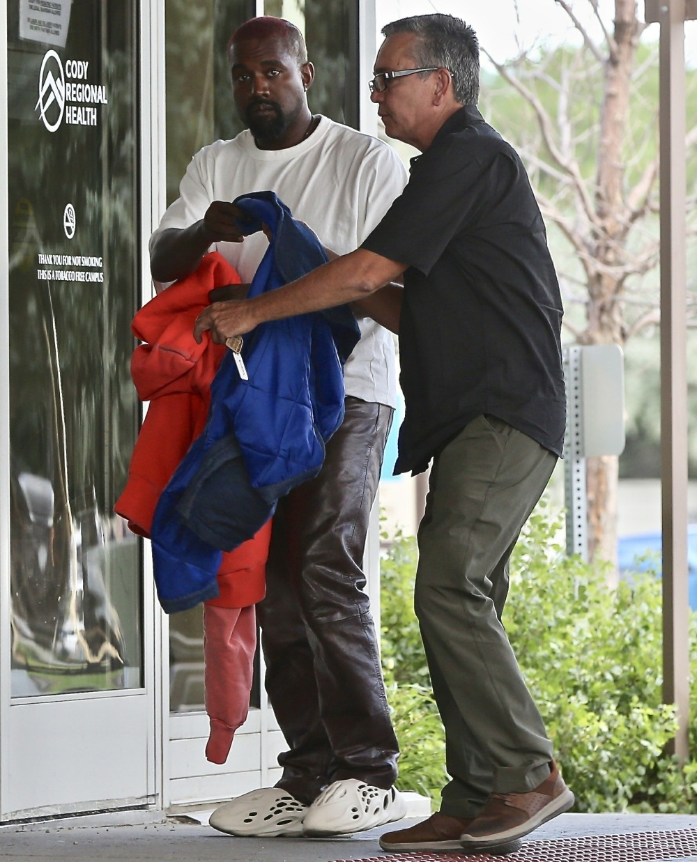 Kanye West makes a short visit to the West Park Hospital in Cody, Wyoming