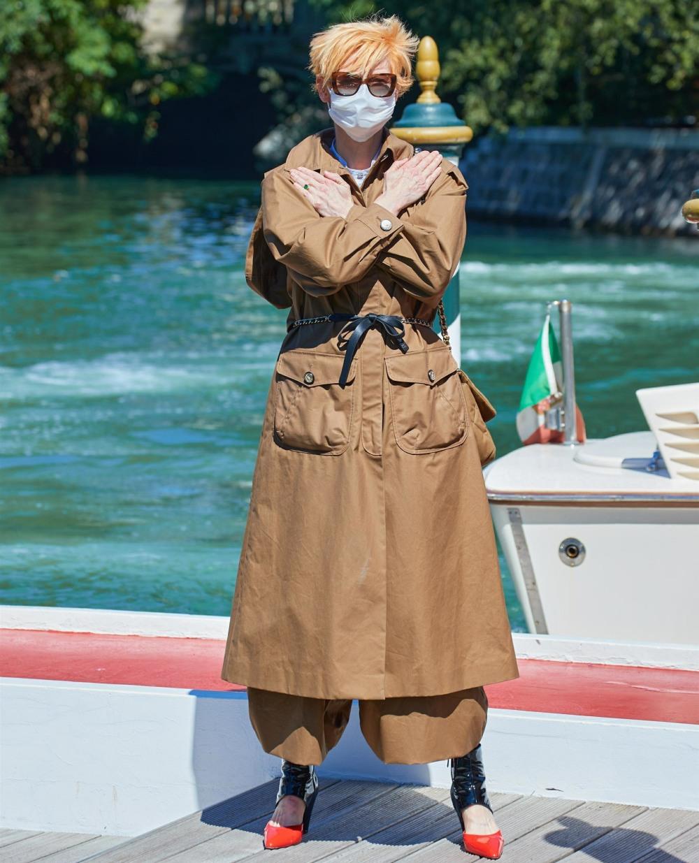 Tilda Swinton Arrives At The 77th Venice Film Festival