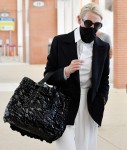 Cate Blanchett is seen arriving at Venice Airport during the 77th Venice Film Festival
