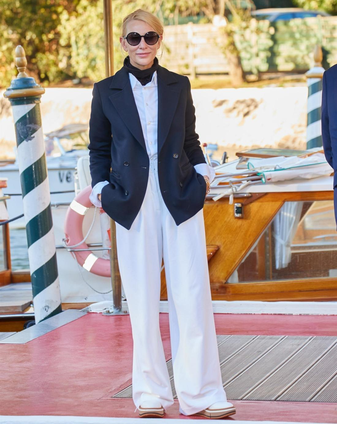 Cate Blanchett looks great as she arrives in Venice for the Venice Film Festival