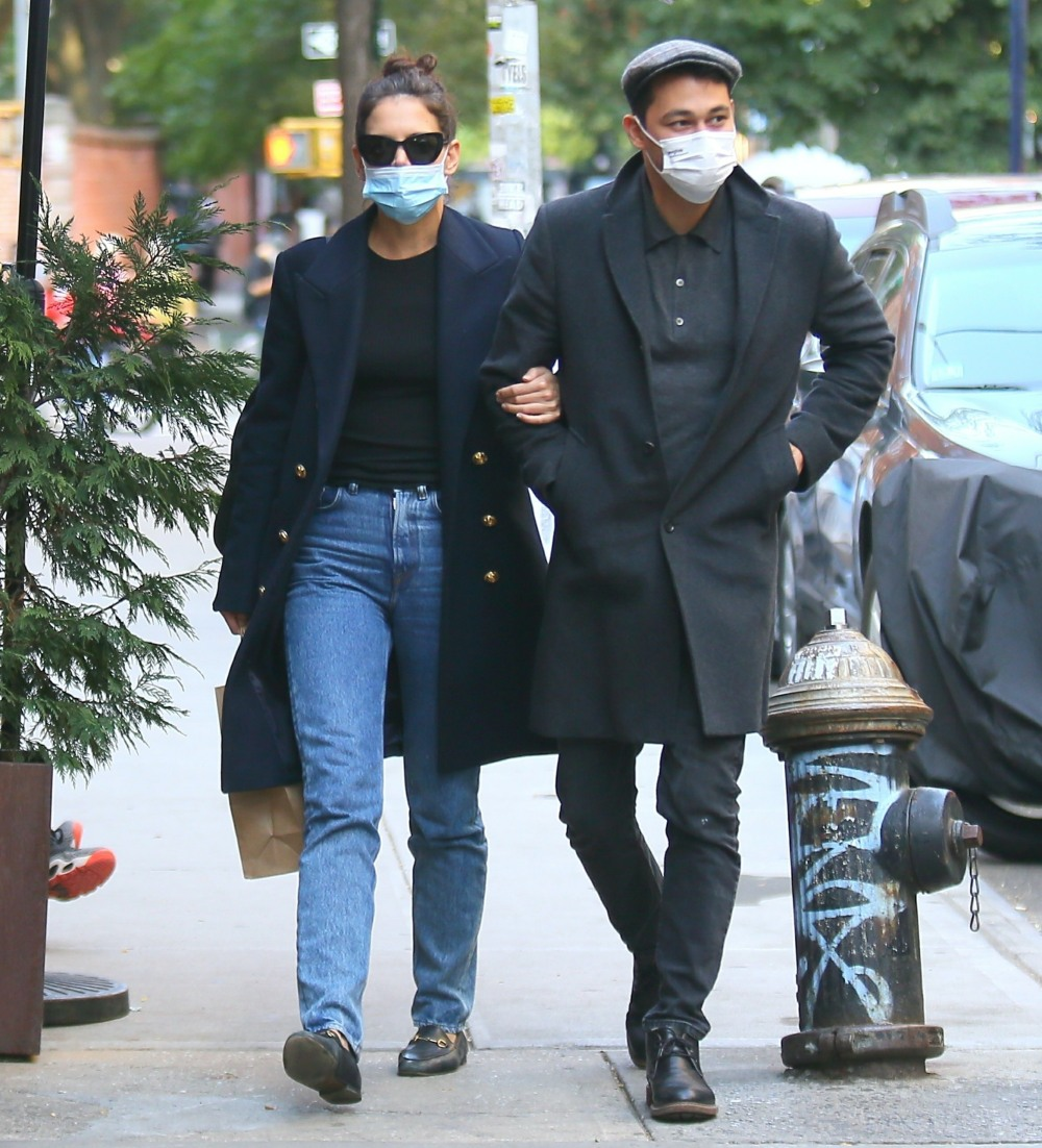 Katie Holmes and new boyfriend Emilio Vitolo hold hands while out in Soho