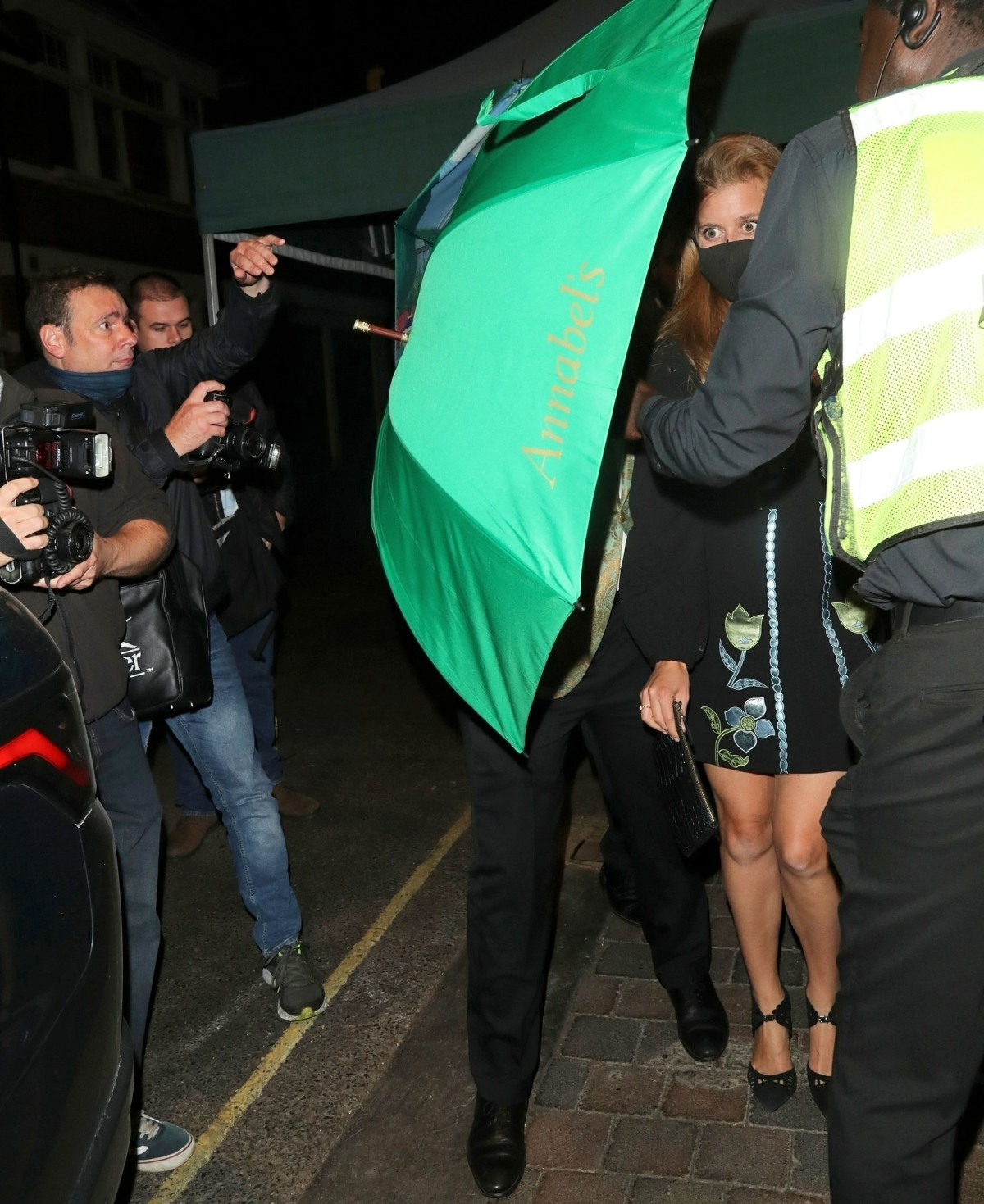 The British Royals Princess Eugenie and Princess Beatrice enjoy a night of fun at Annabels in London
