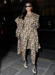 Kim Kardashian dresses from head to toe in leopard print as she is spotted out and about in Paris during Fashion Week