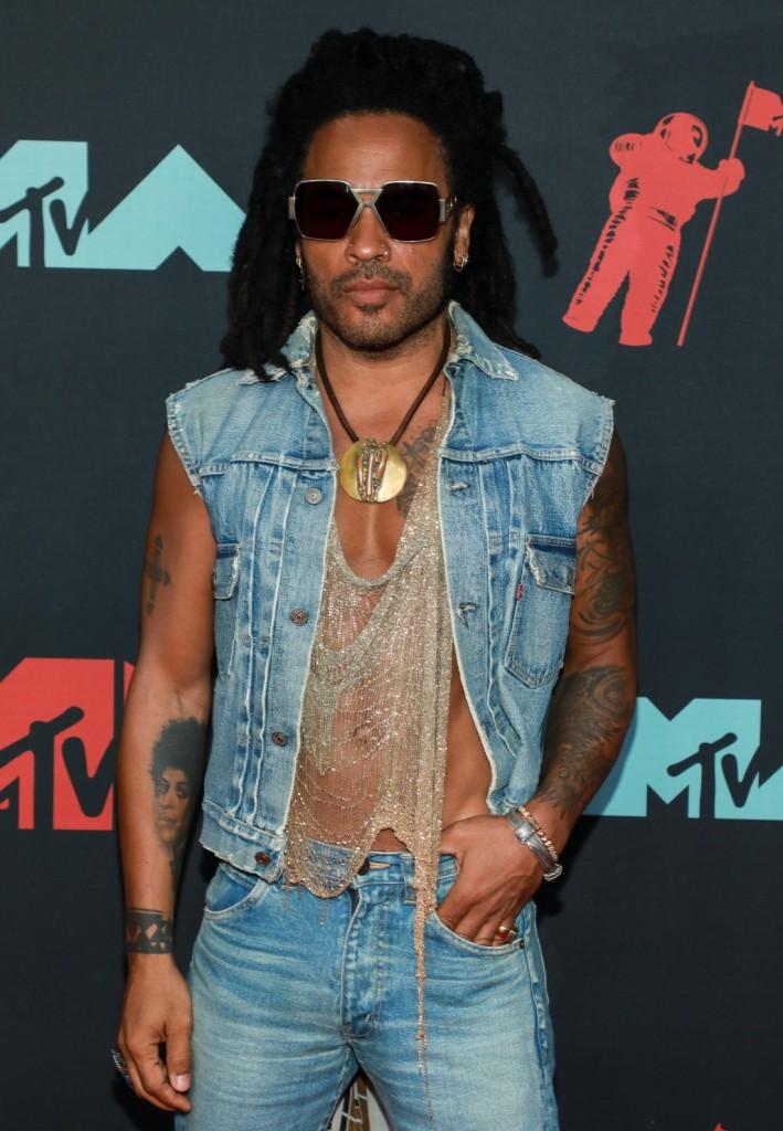 Lenny Kravitz at arrivals for 2019 MTV V...