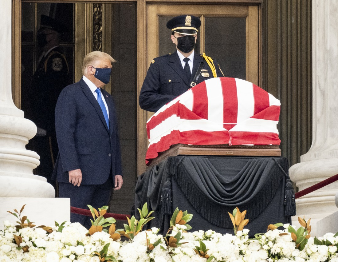 Donald Trump Pays Respects to Ruth Bader Ginsburg