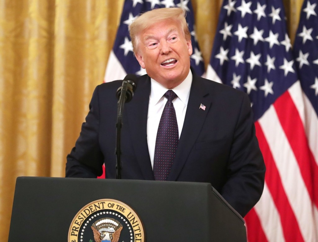 US President Donald J. Trump introduces a plan to help prevent suicide among US veterans