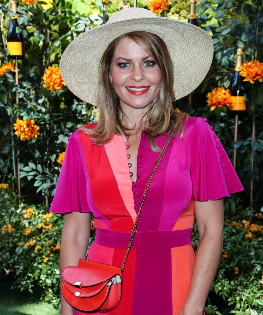Candace Cameron Bure arrives at the 10th Annual Veuve Clicquot Polo Classic Los Angeles held at Will Rogers State Historic Park on October 5, 2019 in Pacific Palisades, Los Angeles, California, United States.