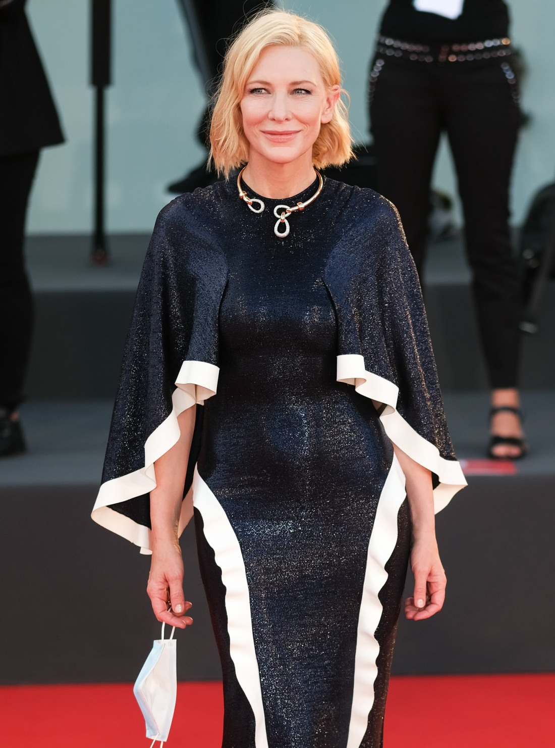 Cate Blanchett poses on the red carpet at Opening Ceremony for the 77th Venice International Film Festival ( Berlinale ) on Wednesday 2 September 2020