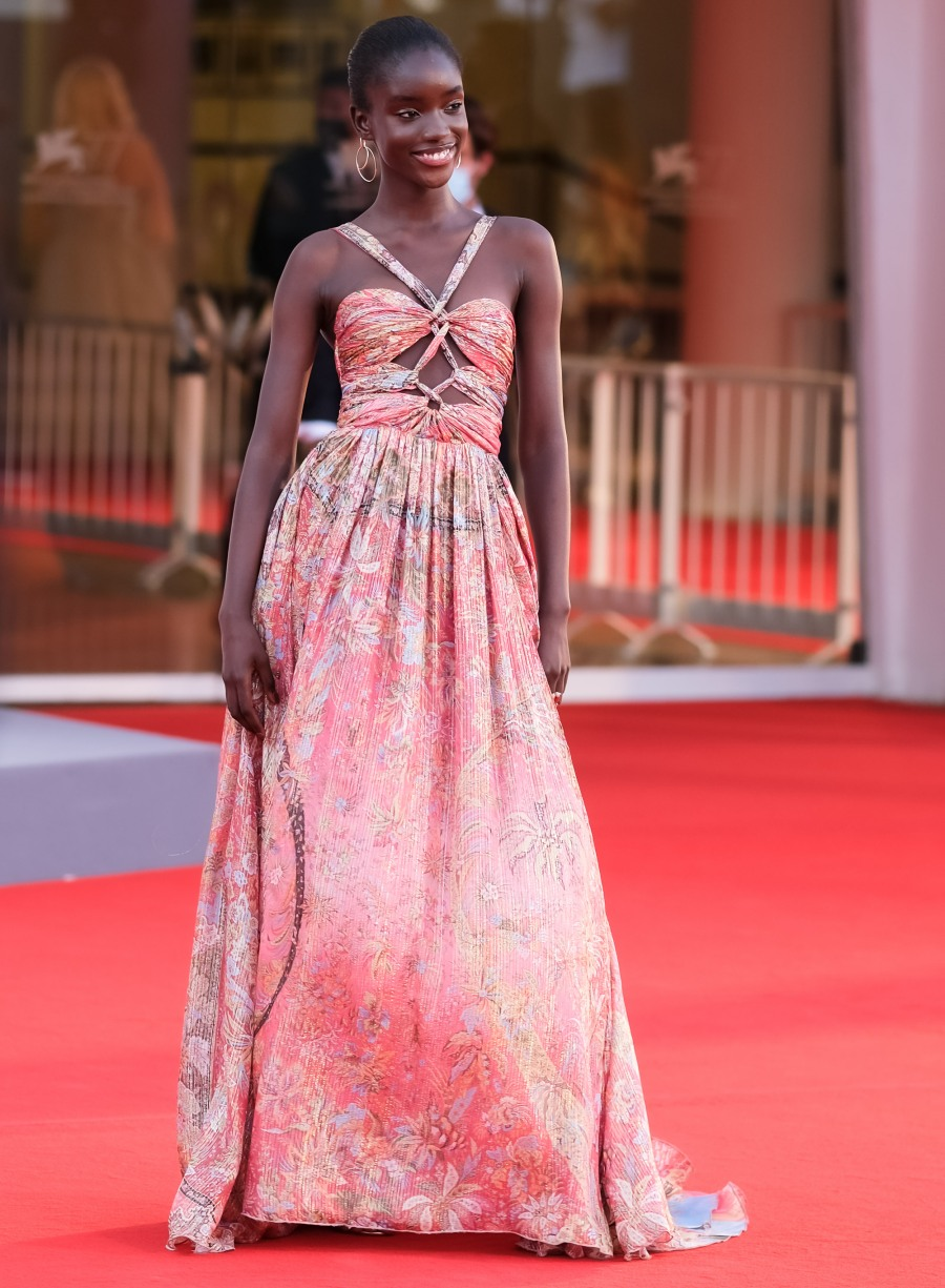 Maty Fall Diba poses on the red carpet at Padrenostro for the 77th Venice International Film Festival ( La Biennale Di Veneziale ) on Friday 4 September 2020