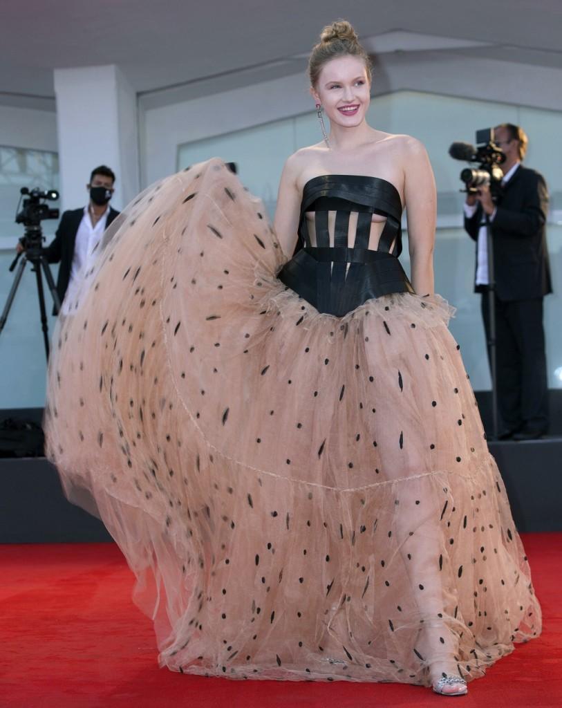 77th Venice Film Festival held in Venice, Italy - Never Gonna Snow Again - Red Carpet