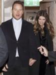 Chris Pratt and Katherine Schwarzenegger leave Soho House in London