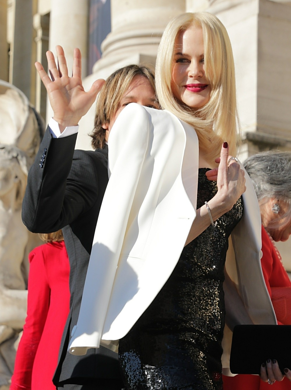 Nicole Kidman and Keith Urban seen arriving at Giorgio Armani Prive show during Haute Couture Week in Paris