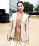 Lily James attends the Burberry fashion show