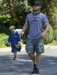 Chris Pratt and Katherine Schwarzenegger take a Family Walk