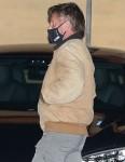Sean Penn exits Nobu after enjoying a family dinner