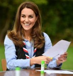 Catherine, Duchess of Cambridge visits a Scout Group in Northolt