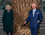 Prince Charles Prince of Wales  accompanied by  Camilla Duchess of Cornwall visit The Ulster Museum in Belfast