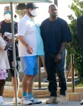 Kanye West exits Nobu after enjoying lunch with friends