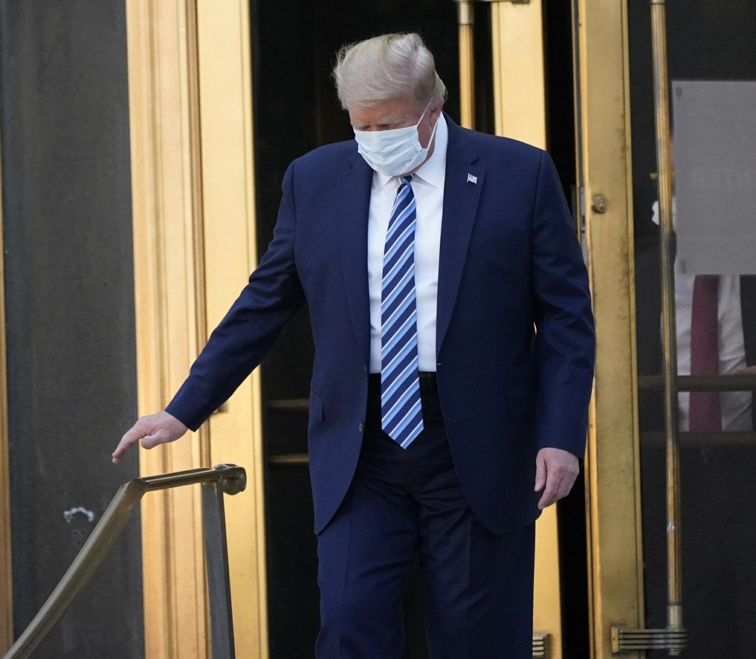 President Trump Departs Walter Reed National Military Medical Center