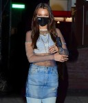 Bella Hadid steps out with friends to party for her birthday in Brooklyn