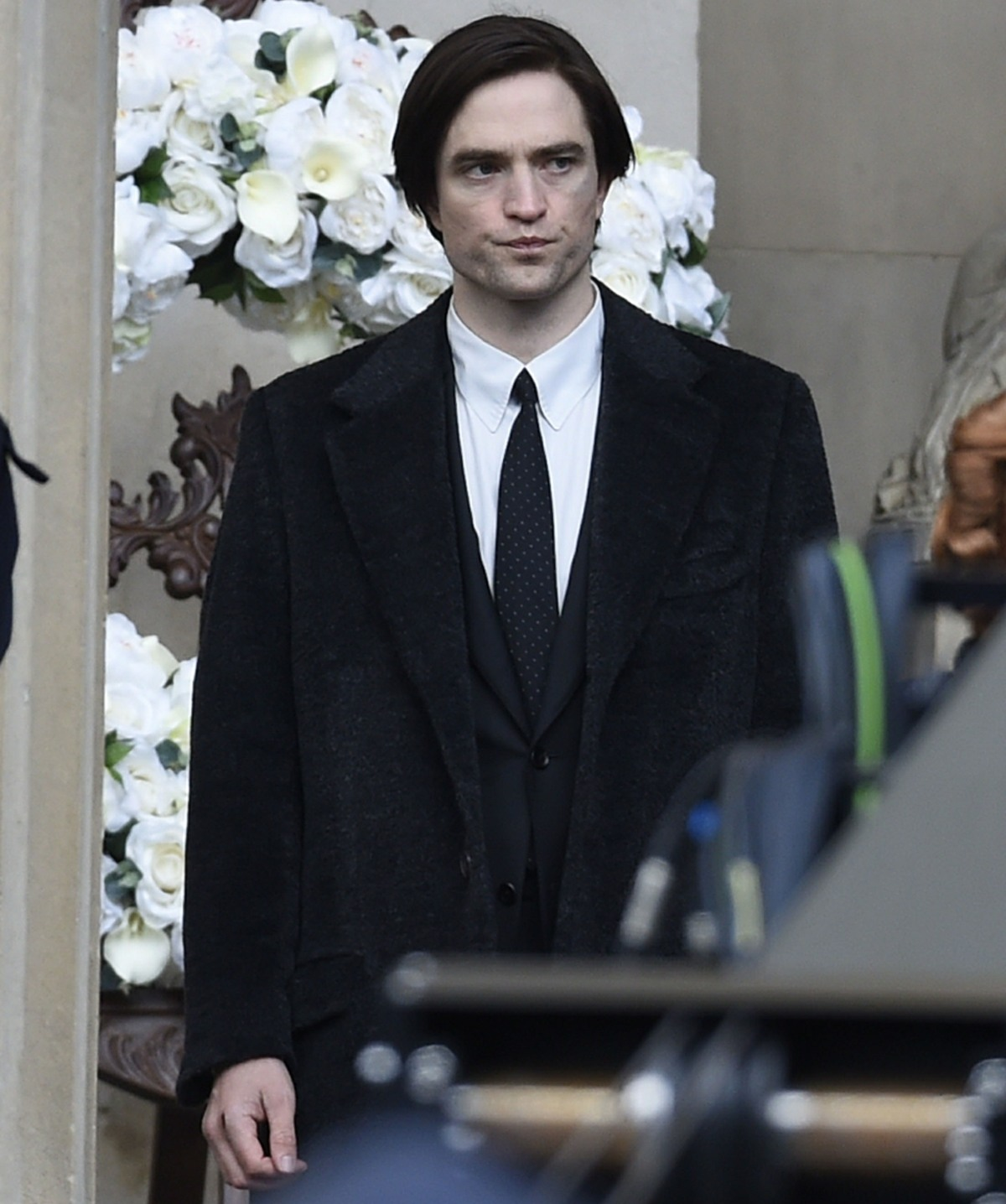 Robert Pattinson gets back to work on the set of 'The Batman' filming in Liverpool