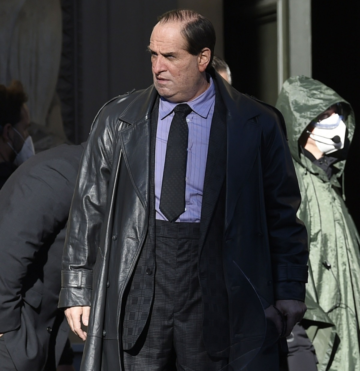 Colin Farrell channels his character 'The Penguin' for the new 'The Batman' in Liverpool