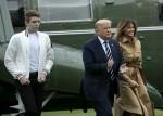 Trumps Return from Bedminster, NJ