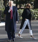 President Trump and Melania Trump depart White House for India