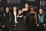 "Maddox Jolie Pitt, Shiloh Jolie Pitt,Vivienne Jolie Pitt, Angelina Jolie, Zahara Jolie Pitt, Knox Jolie Pitt attends the World Premiere Of Disney's ÒMaleficent: Mistress Of Evil"" - Red Carpet at El Capitan Theatre on September 30, 2019 in Los Angeles, Cal"