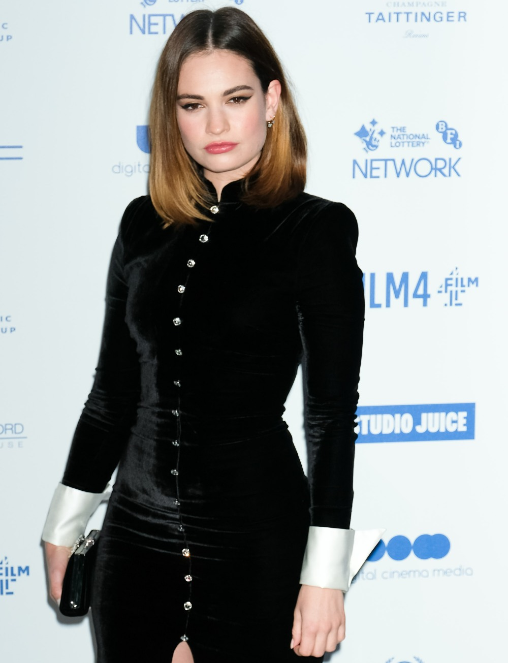 Lily James attends the 22nd British Independent Film Awards on Sunday 1 December 2019
