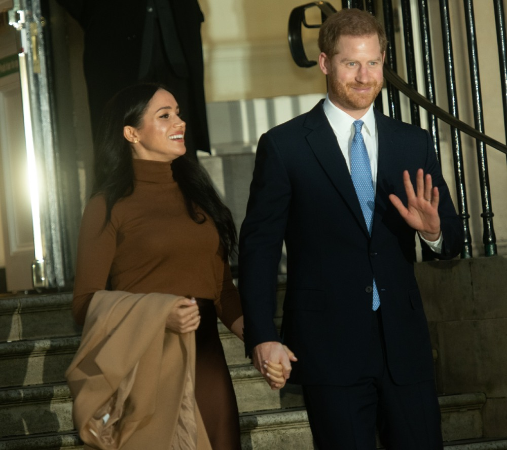 HRH Sussexes Visit -  Tuesday 7 January  -  Canada House, London