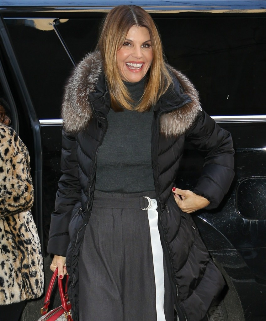 Lori Loughlin pictured arriving at the TODAY show