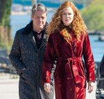 Nicole Kidman and Hugh Grant film a scene for ''The Undoing''