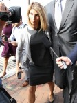 Lori Loughlin and husband Mossimo Giannulli exiting courthouse