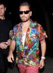 Scott Disick and Amelia Hamlin are seen partying at a Halloween party in Santa Monica!