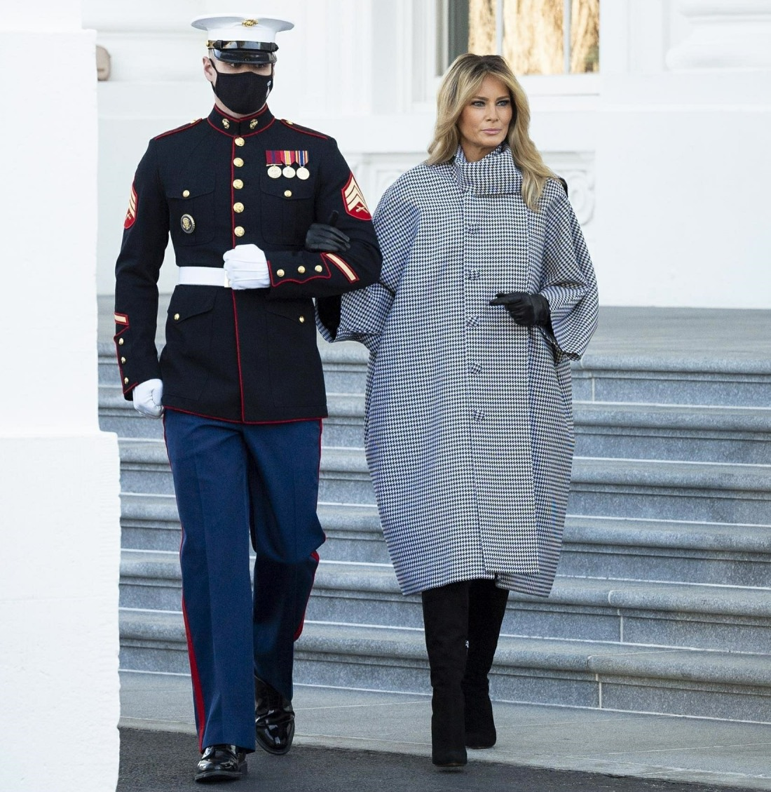 First Lady Melania Trump Accepting Delivery of the White House Christmas Tree