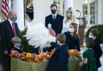 President Trump Pardons the National Thanksgiving Turkey in Washington, DC