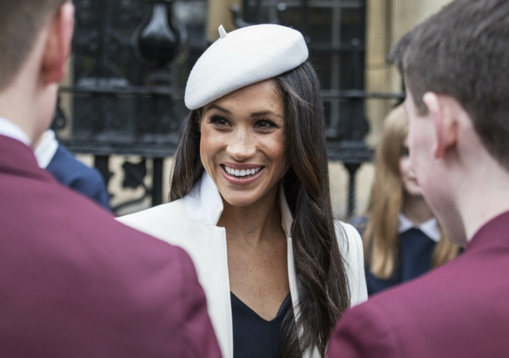 Upon conclusion of the Commonwealth Service, The Duke and Duchess of Cambridge, Prince Harry and Ms. Meghan Markle will meet school children in the Dean's yard before attending a Reception.