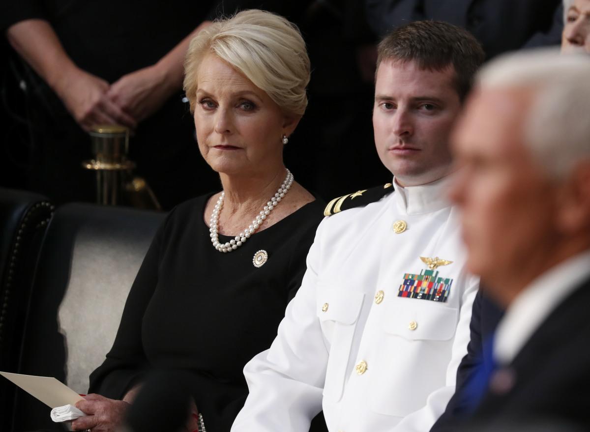U.S. Senator John McCain lies in state in the U.S. Capitol Rotunda in Washington