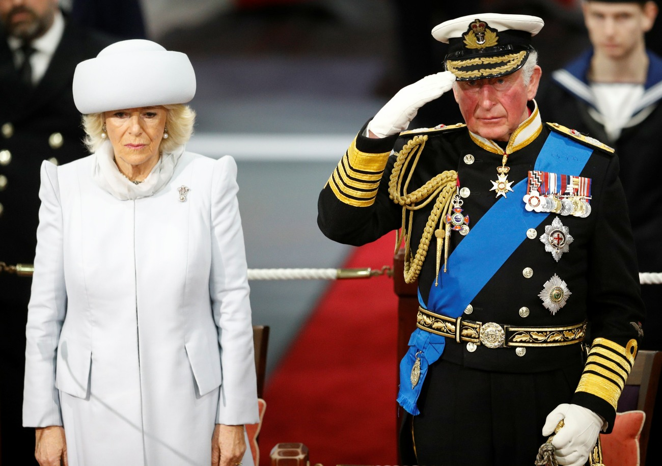 Official commissioning ceremony of HMS Prince of Wales, in Portsmouth