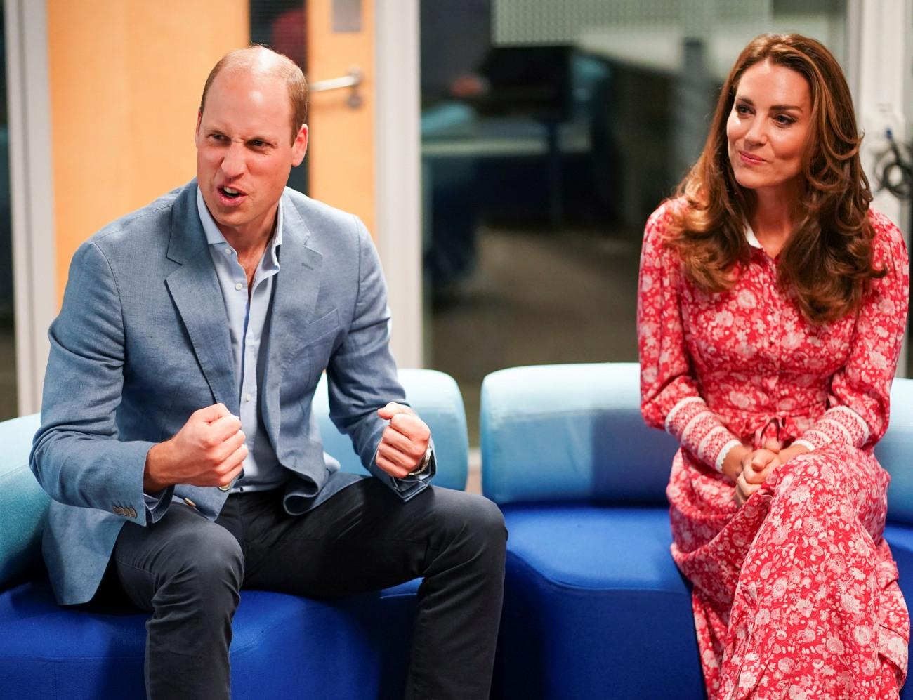 Prince William and Catherine, Duchess of Cambridge, of Great Britain, speak to employers at London Bridge Jobcentre, London