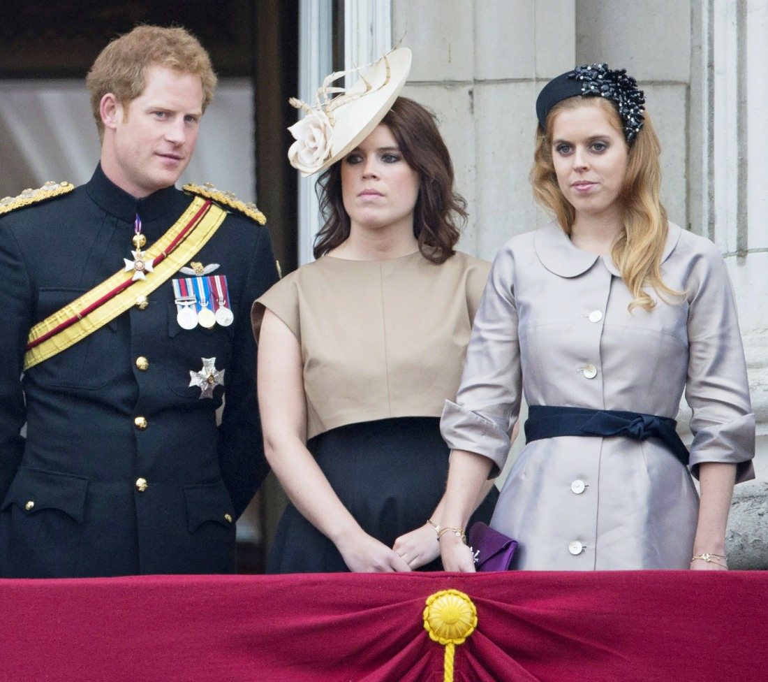 Britain's Prince Harry (L-R), Princess E..........