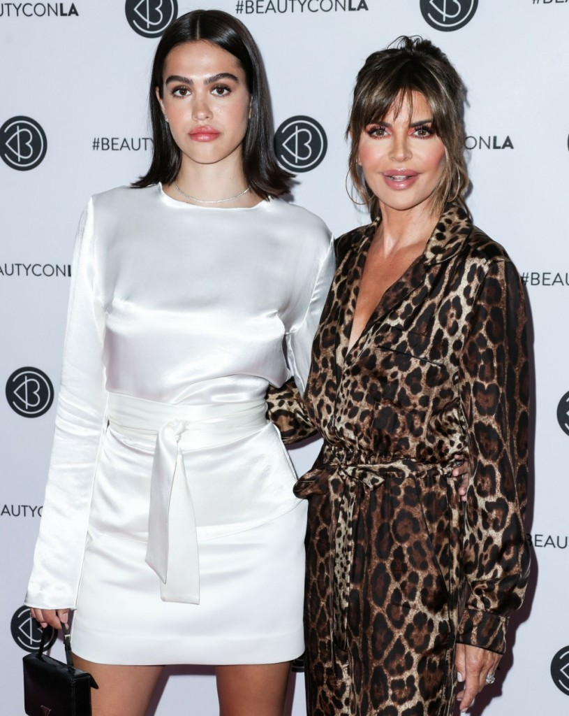 Model Amelia Gray Hamlin and mother/actress Lisa Rinna arrive at the Beautycon Festival Los Angeles 2019 - Day 1 held at the Los Angeles Convention Center on August 10, 2019 in Los Angeles, California, United States.