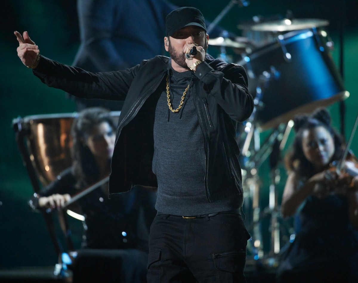 Eminem performs during the live ABC telecast of the 92nd Oscars® at the Dolby® Theatre in Holl...