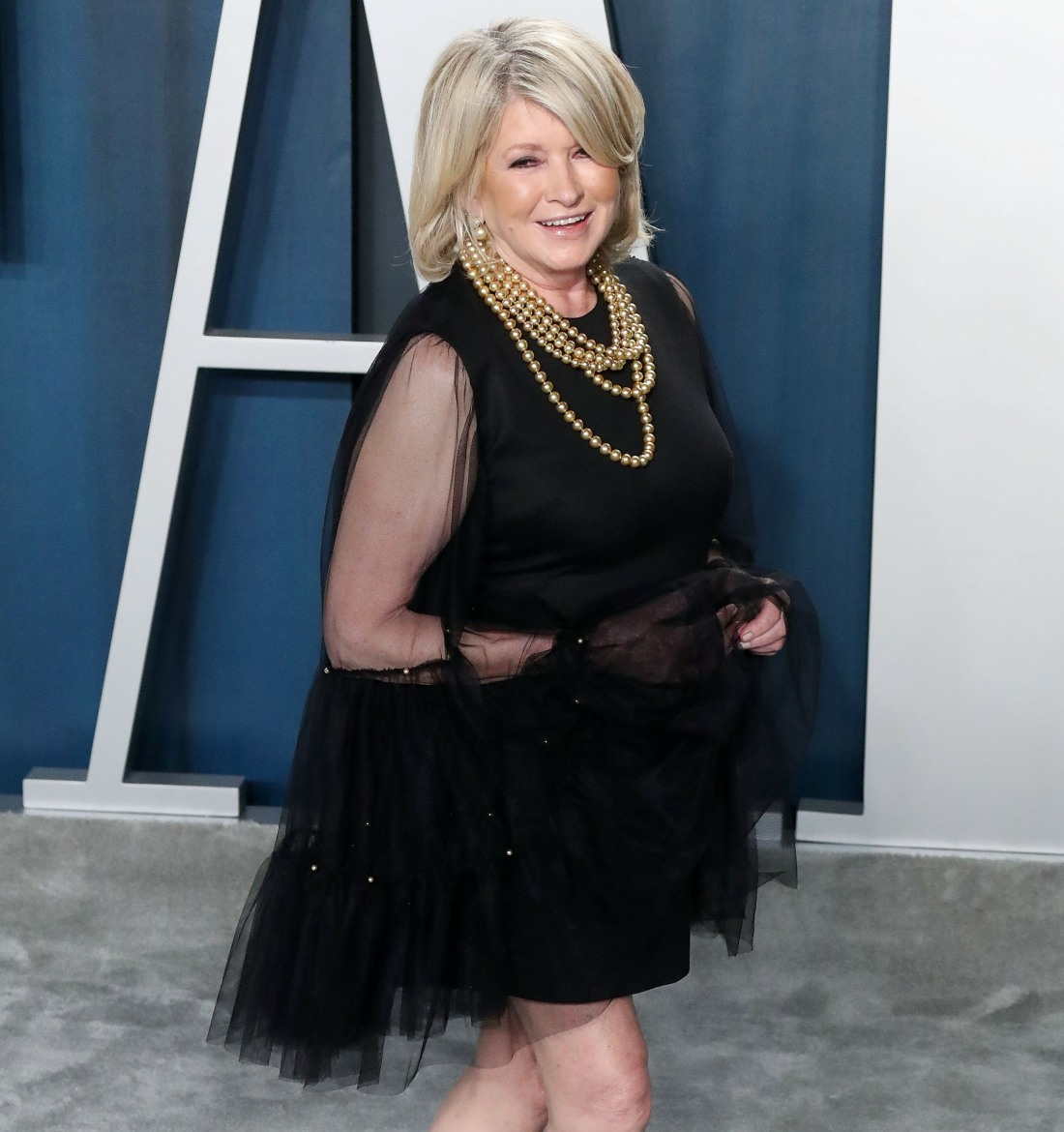 Martha Stewart arrives at the 2020 Vanity Fair Oscar Party held at the Wallis Annenberg Center for t...
